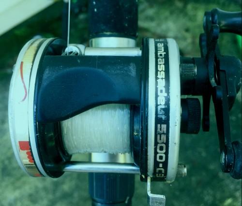 catfishing bait clicker reel